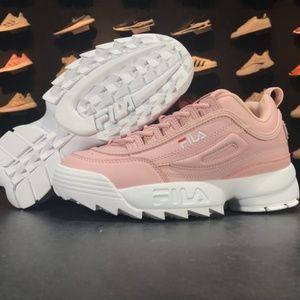 Shoes - FILA Womens Disruptor II 2 Sneakers pink white